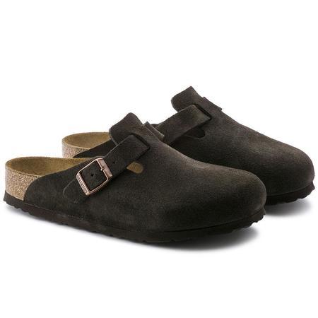 Birkenstock Boston Soft Footbed Suede Leather Regular sandals - Mocha