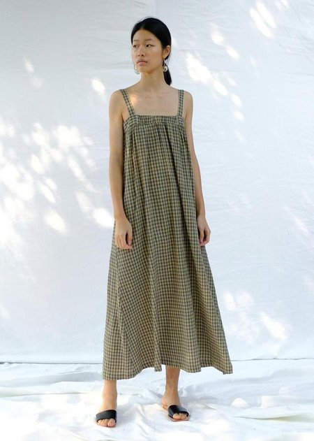 Micaela Greg Column Dress - Gingham