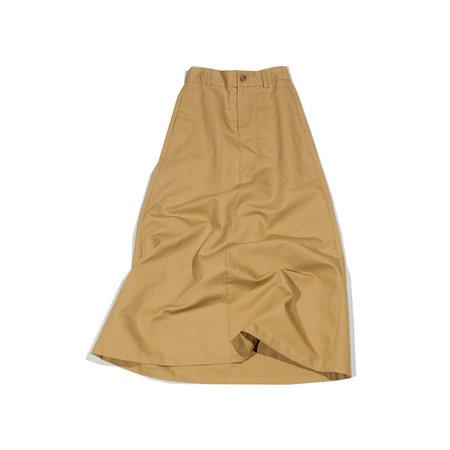 Nicholson & Nicholson Horn Midi A-Line Skirt - Tan