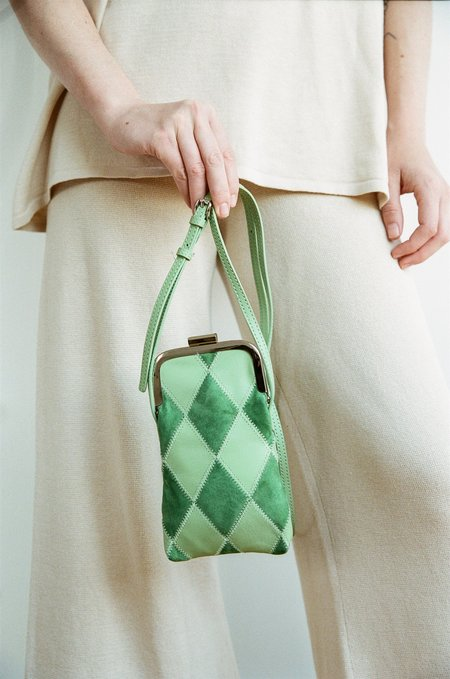 Social Work Mini Zig Zag Bag - Green
