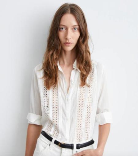 Nili Lotan Harmonia Shirt - Ivory
