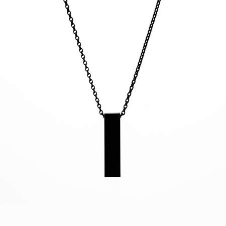 Locked and Layered Rectangular Bar Necklace