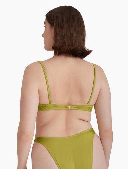 Paloma Wool Willy Bikini Top - Green