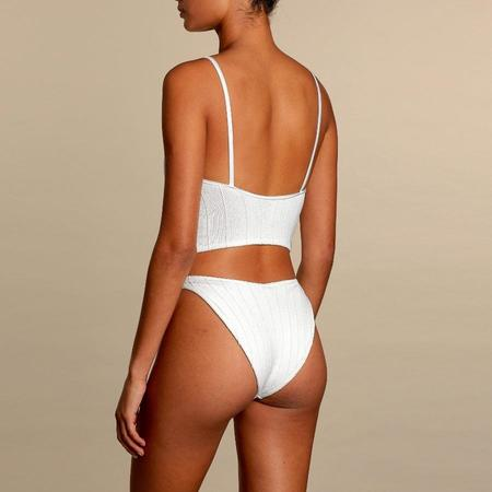 Hunza G Nile Knit Bikini Set - White