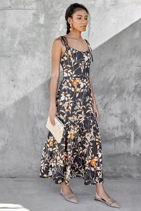 CHRISTY LYNN Luisa Dress - Black Desert Rose
