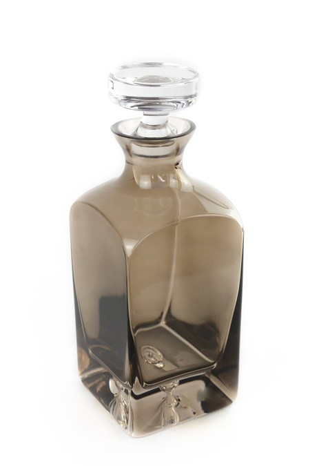 Estelle Colored Glass Decanter - Gray Smoke