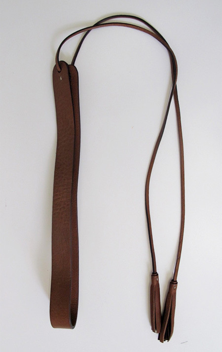De Palma Leather Anjelica belt with tassel