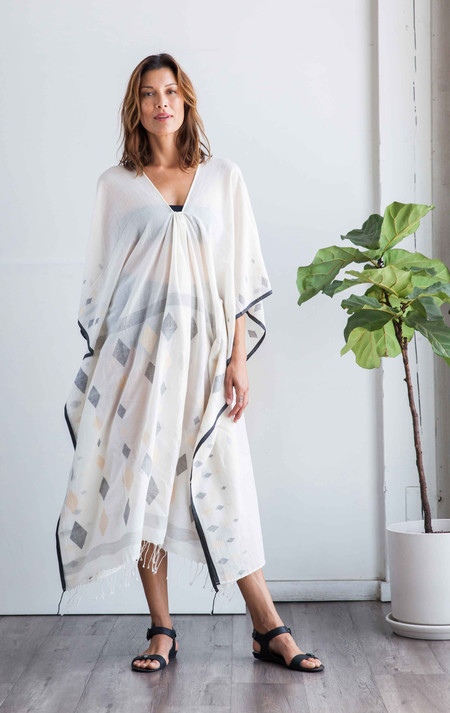 Two New York Diamond tassel caftan