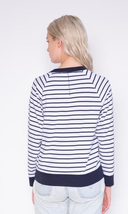 Stateside Sweatshirt Tee - Navy Stripe