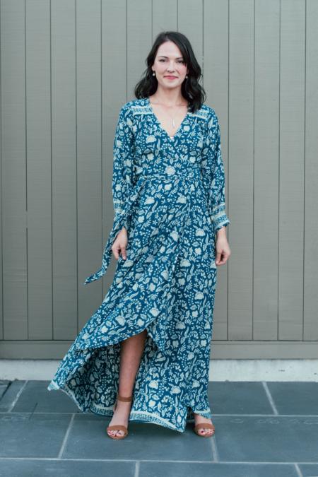 Natalie Martin Kate Long Sleeve Dress - Silhouette Shallows