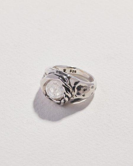 Pamela Love Braided Stone Ring - sterling silver