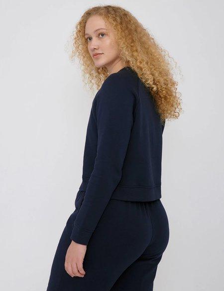 Organic Basics Cropped Sweatshirt - Navy