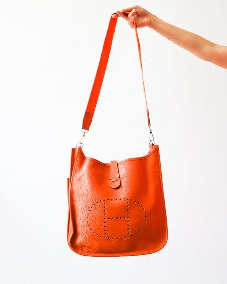 Pre-loved Hermes The Evelyne Crossbody - orange