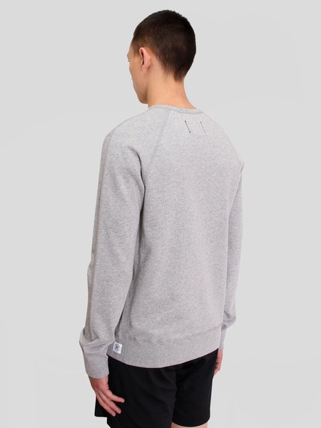 Reigning Champ Knit Lightweight Terry Embroidered Crewneck - H. Grey