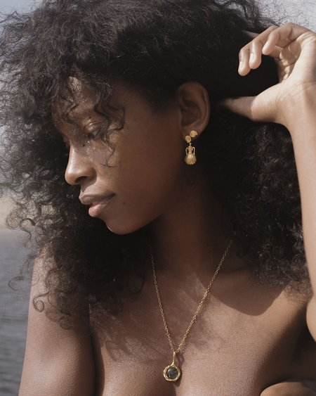 Pamela Love Braided Drop Pendant jewelry - 14k yellow gold plate