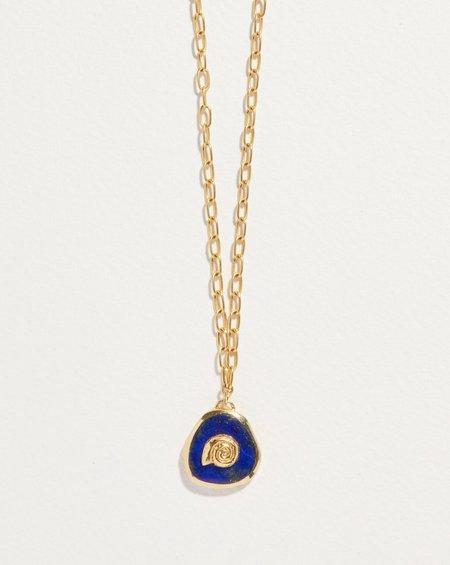 Pamela Love Seashell Inlay Pendant - 14k yellow gold plate