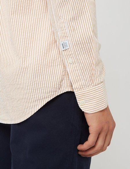 Bhode Maine Button Down Shirt - White/Cinnamon