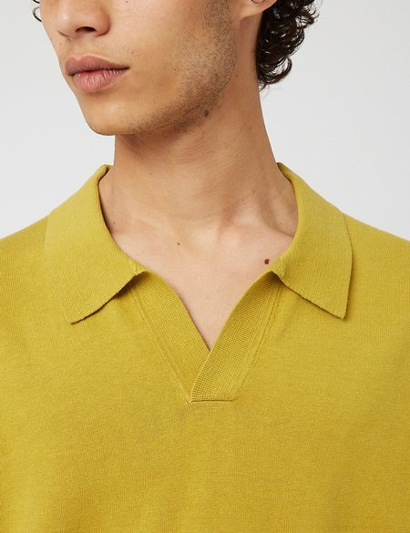 Norse Projects Leif Cotton Linen Polo Shirt - Green