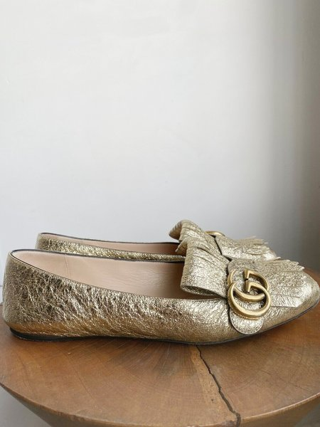 Pre-loved MARMONT GALASSIA PLATINO FLATS - gold