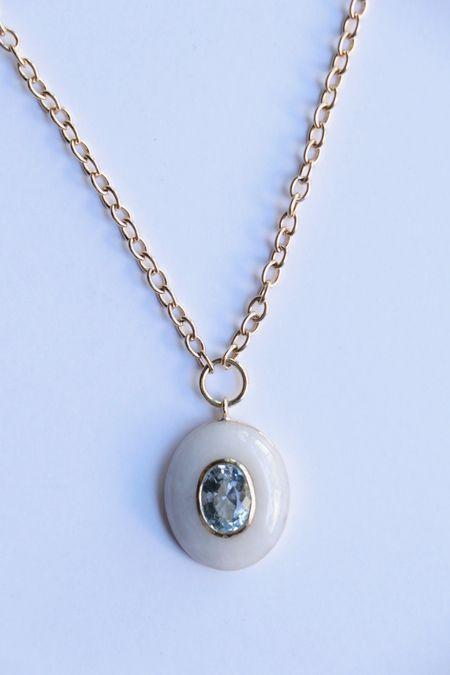 Retrouvai Small Lollipop w/ White Quartz and Aquamarine