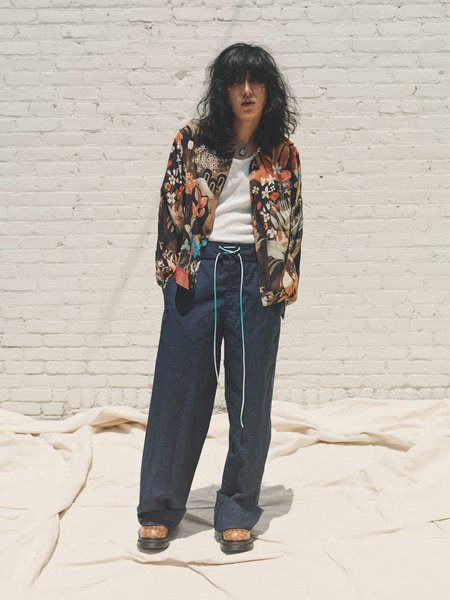 Lanvin Silk Long Sleeve Blouson Shirt - Tropical Floral