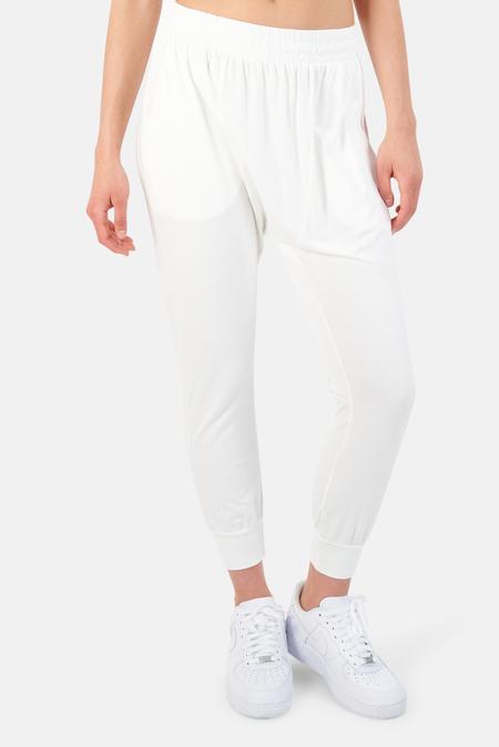 NSF Kendall Jersey Harem Pants - White