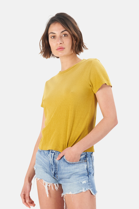 Re/Done Classic T Shirt - Faded Mustard