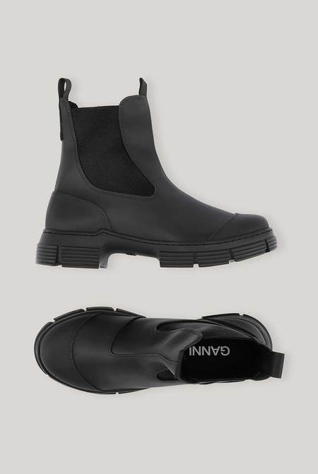 Ganni Recycled Rubber City Boot - Black