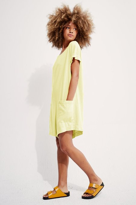 back beat rags Organic Cotton Slip-On Romper - Lime