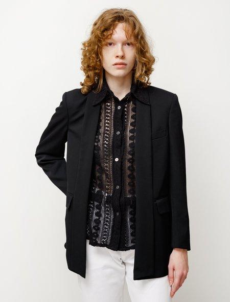 Comme des Garçons Extended Tuxedo Jacket - Black