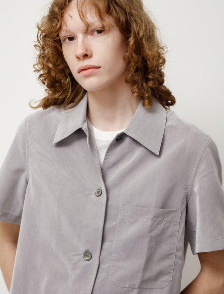 Our Legacy Short Sleeve Square Shirt - Galvanized Grey Solaro