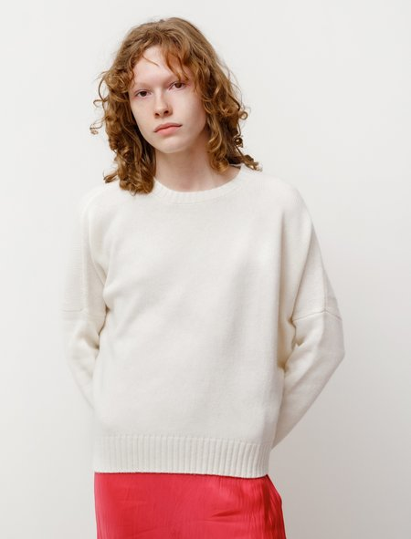 Organic by John Patrick Cashmere Wide Pullover - Ivory