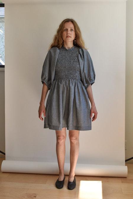 Devon's Drawer Summer Willow Dress - Chambray Hemp Blend