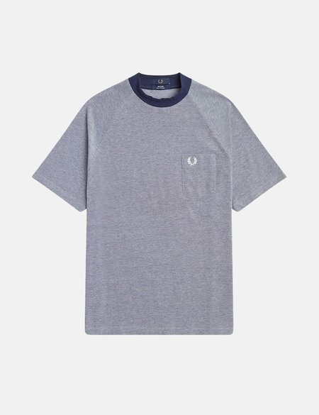Fred Perry Two Tone Pique T-Shirt - Blue