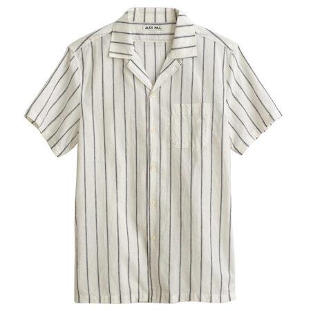 Alex Mill S/S Camp Shirt - Off White Stripe