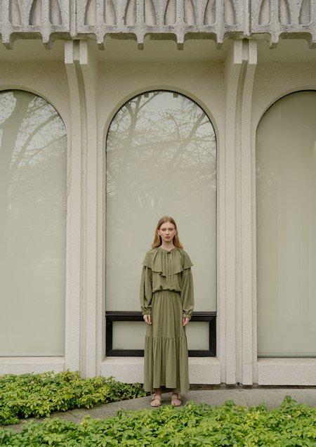 Vestige Story Rhythm Skirt - Sencha Green