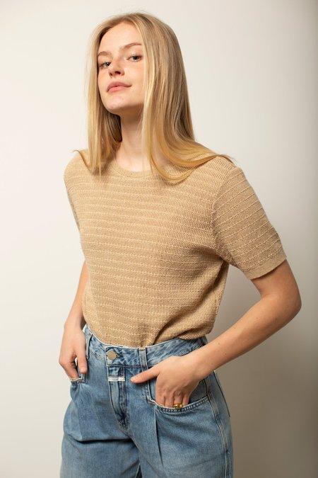 Vintage Knit Top - Tan