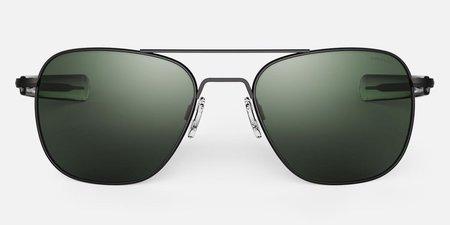 Randolph Engineering Aviator sunglasses - matt black/dark green
