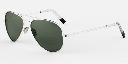 Randolph Engineering Concorde Polarised sunglasses - white gold/dark green
