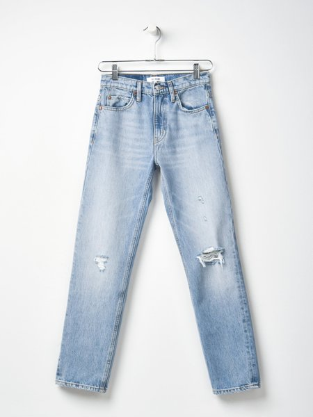 Re/done 70s Straight Jean - Destroyed Sunfaded Indigo