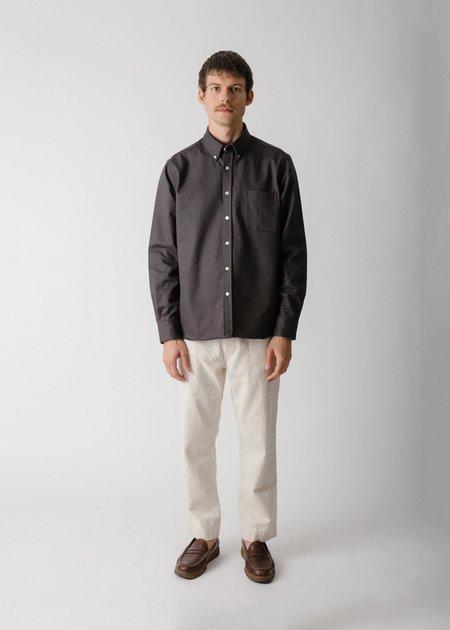 Steven Alan Extra Heavy Oxford Classic Collegiate Shirt - Slate
