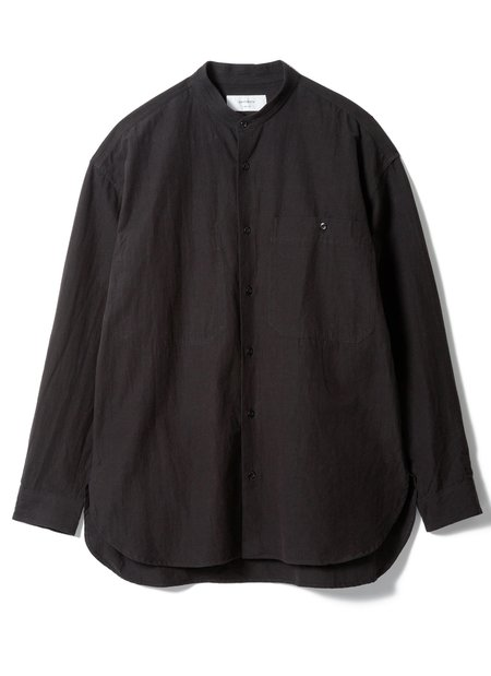 "SANDINISTA MFG ""Collar Cotton Linen Shirt - Black"