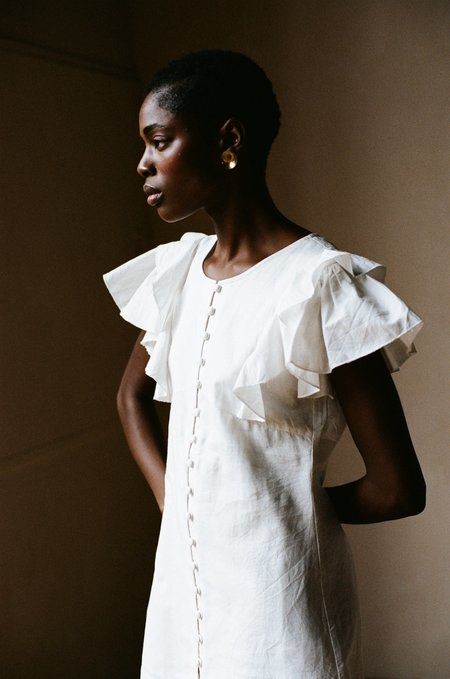 Maria Stanley GENEVIÈVE DRESS - Coconut Earth Dyed