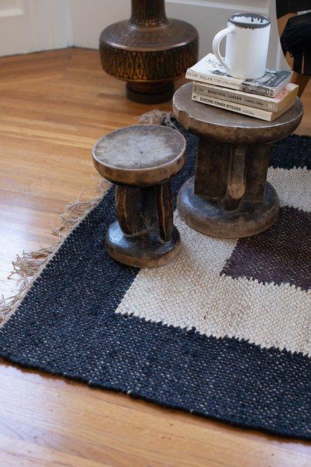 Erica Tanov suelo jute rug - colorblock brown
