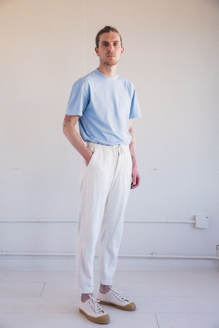 Orslow COTTON FLANNEL NEW YORKER PANTS  - White