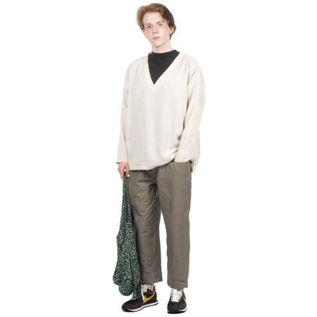 South2 West8 BELTED CENTER SEAM PANTS - TAUPE