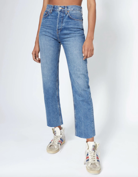 RE/DONE 70s Stove Pipe Jeans - Med Vain