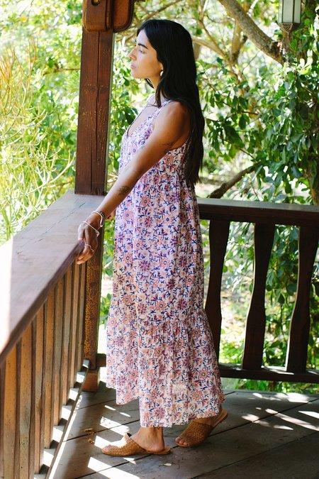 Rachel Pally Cotton Amelia Dress - Floral Block Print