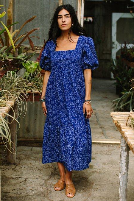 Rachel Pally Cotton Mae Dress - Indigo Block Print