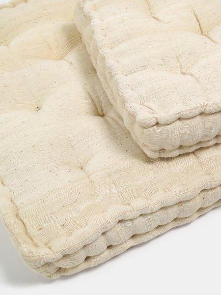 Erica Tanov hand-tufted cotton floor cushion - natural